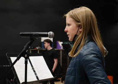 recording 'Sorry, Wrong Number' radio play, spring 2021 PVA Central