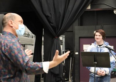 Paul Mulloy directing 'The Undead' radio play, PVA Central spring 2021